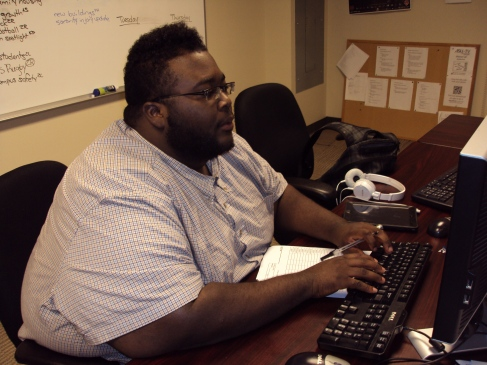 Charles Studying