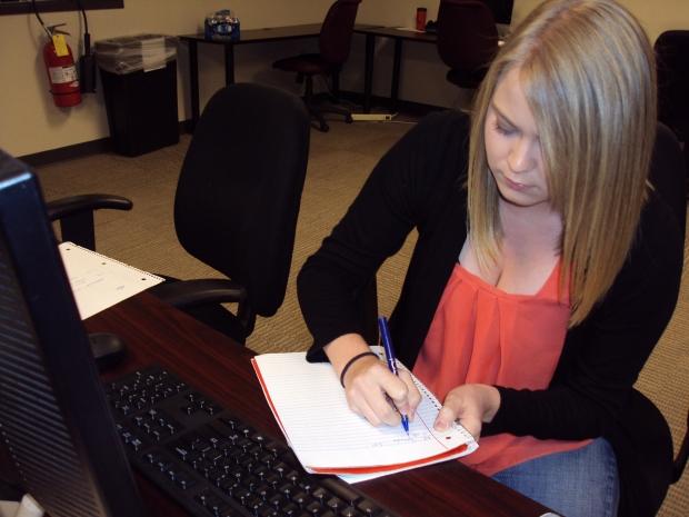 Student making a list