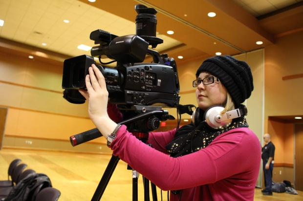 Kirsten Pieri-May prepares the camera