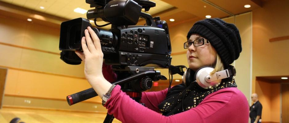 Kirsten Pieri-May prepares the camera